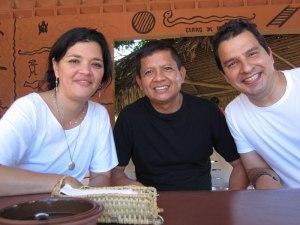 Junto a Gregorio Mirabal