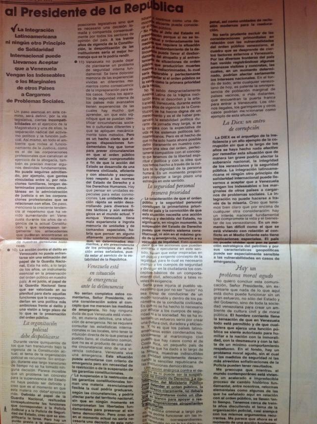 Carta Fiscal General Escovar Salom a Carlos Andrés Pérez (2)