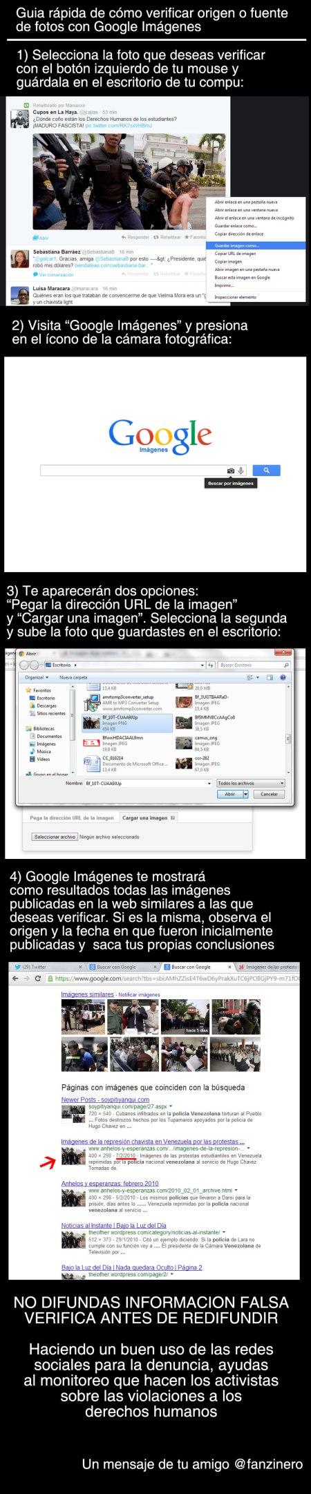 """Guía rápida para verificar origen de fotos usando """"Google imágenes"""""""