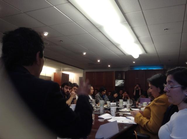 Momento de nuestra intervcnción en la reunión