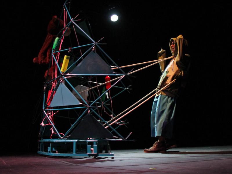 Obra de teatro Inmolacion que dirige Fausto Ramirez.Foto: Héctor Jesús Hernández;